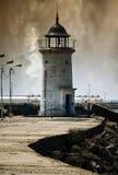 Far seaside. Eternal and the old lighthouse isolated Genovese Mangalia (Black Sea royalty free stock image