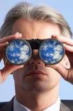 Far sighted man royalty free stock photos