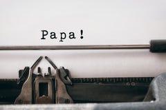 Far som är skriftlig på papper Royaltyfri Fotografi