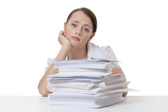 Far to much paper work Stock Photo