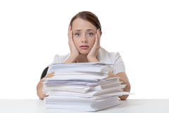 Far to much paper work Royalty Free Stock Photos