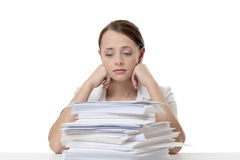 Far to much paper work Stock Photography