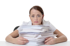 Far to much paper work Royalty Free Stock Images