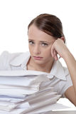 Far to much paper work Stock Image