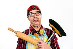 Far too much housework Royalty Free Stock Photo