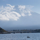 Far view of Fuji mountain in Japan Royalty Free Stock Image