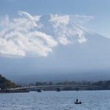 Far view of Fuji mountain in Japan Royalty Free Stock Image