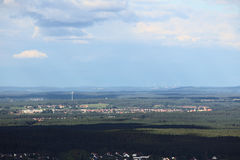 Far view on Hilpoltstein from Schlossberg (Heideck) Royalty Free Stock Photos
