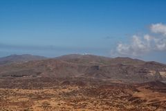 Far view from the mountain by tenerife stock images