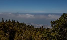 Far view from the mountain by tenerife stock image