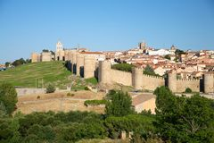 Far View Of Avila City Royalty Free Stock Images