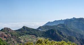 Far view over a road to Anaga mountain stock image