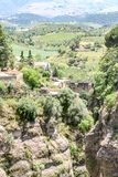 Far view from Ronda, spain to the mountains stock images