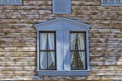 Far west facade blue window detail Stock Images