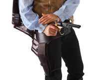 Far West. Gunman in the old wild west Royalty Free Stock Photography