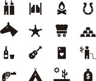 Far west icon set Royalty Free Stock Photo