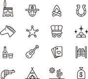 Far West icons Stock Image