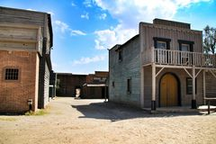 Far west old town in Almeria stock photos