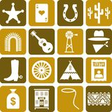 Far West pictograms Stock Photo