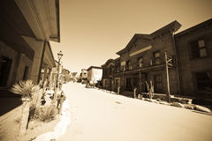 Far west town. Retro photo of Far west town royalty free stock images