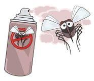 Fara av myggor - STOPPmygga - döda myggor Arkivbilder