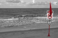 Fara ingen simning Fotografering för Bildbyråer