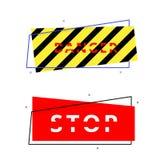 Fara- och stoppbaner också vektor för coreldrawillustration royaltyfri illustrationer