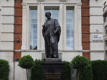 Faraday monument in Savoy Place in London Royalty Free Stock Photos