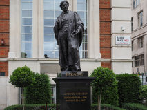 Faraday monument in Savoy Place in London Stock Photo