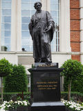 Faraday monument in Savoy Place in London Royalty Free Stock Photo