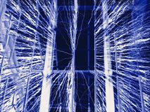 Faraday przewód tło klatki Zdjęcie Stock