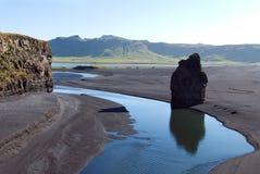 Faraglione Vik Islande Image stock