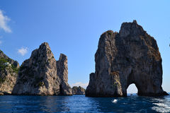 Faraglioni卡普里岛 免版税库存照片