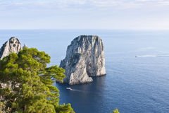 Faraglioni in Capri. Typical rocks in Capri Island Stock Images