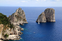 The Faraglioni of Capri Royalty Free Stock Photos