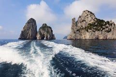 The Faraglioni by Capri Island Royalty Free Stock Photos