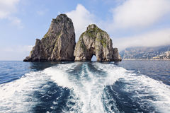 The Faraglioni by Capri Island Stock Images