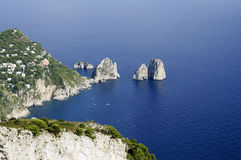 Faraglioni of Capri Island - Italy Royalty Free Stock Photos
