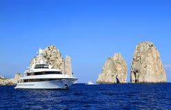 Faraglioni of Capri Island, Italy, Europe royalty free stock image