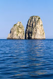 Faraglioni in Capri island - Italy stock photography