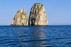 Faraglioni in Capri island - Italy Royalty Free Stock Images