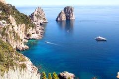 Faraglioni Capri - Italia. Faraglioni Rocks of Capri Island in Italia stock photography