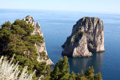 Faraglioni Capri - Italy Stock Photos