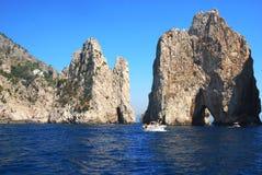 Faraglioni of Capri, Italy stock photo