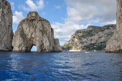 Faraglioni of Capri view from the sea. Capri Island, Italy stock photos