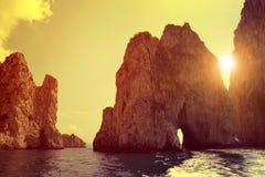 Faraglioni Cliffs in Capri Stock Image