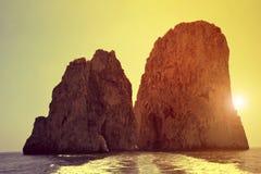 Faraglioni Cliffs in Capri Stock Photos