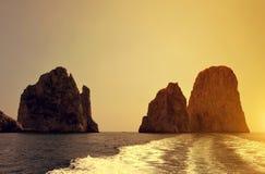 Faraglioni Cliffs in island Capri Royalty Free Stock Photo