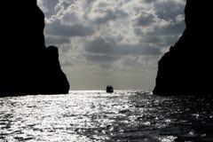 Faraglioni di Mezzo, isola di Capri - Italia Immagine Stock Libera da Diritti