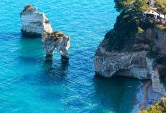 Faraglioni di Puglia  Baia Delle Zagare, Italy Royalty Free Stock Photo